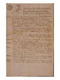 Marriage Certificate of Wolfgang Amadeus Mozart and Constanze Weber, 1782 Giclee Print by Austrian School