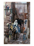 St. Joseph Seeks Lodging in Bethlehem, Illustration for 'The Life of Christ', C.1886-94 Giclee Print by James Jacques Joseph Tissot
