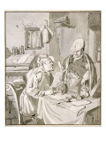 Two Men Discussing Money in an Office, 1672, Copied by Cornelis Ploos Van Amstel Giclee Print by Jan Havicksz. Steen