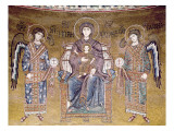 The Virgin and Child Enthroned Between Two Angels, from the Apse Giclee Print by  Byzantine School