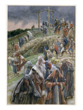 The People, Beholding the Things That Were Done, Smote their Breasts' Giclee Print by James Tissot