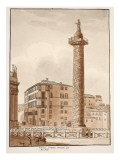 Trajan's Column, Surrounded with a Fence by Pius Vii, 1833 Giclee Print by Agostino Tofanelli