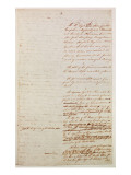 First Draft of the Constitution of the United States, 1787 Giclee Print by American School