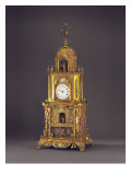 A Very Rare Ormolu, Paste-Inset Musical Automaton Table Clock, Probably Guangzhou, C.1790 Giclee Print by  Chinese School