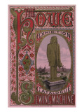 Front Cover of the Howe Sewing Machine Exhibition Catalogue, 1876 Giclee Print by  American School