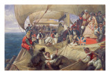 Neptune on Board the 'Newcastle' Crossing the Line, 1859 Giclee Print by William Simpson