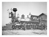 Locomotive Number 23 at Wyoming Station New Little Laramie River, Wyoming, 1868 Giclee Print by Andrew Joseph Russell