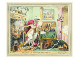 Mixing a Recipe for Corns, Published by G. Humphrey, London, December 4Th, 1822 Giclee Print by George Cruikshank