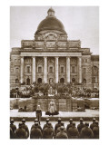 Ceremony Honouring the German War Dead of WWI before the Army Museum in Munich, 1920S Giclee Print by  German photographer
