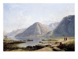 View of Lake Geneva with the Town of Villeneuve, 1836 Giclee Print by James Francis Danby