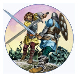 Hagen's Battle with Hettel, from 'The Legend of Gudrun', 1973 Giclee Print by Ron Embleton