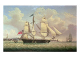 A Merchantman of the Jardine Matheson Line and Other Shipping Off Liverpool, C.1832-48 Giclee Print by Robert Salmon