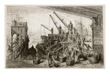 Limehouse Dock, from 'London, a Pilgrimage', Written by William Blanchard Jerrold Giclee Print by Gustave Doré
