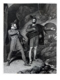 Roderick Dhu and a Clansman, 1810, from 'Lady of the Lake' by Walter Scott Premium Giclee Print by Richard Westall