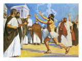 Pheidippides Bringing News to Athens in 490 Bc Giclee Print by Alberto Salinas