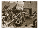 Rioting in Belfast, 1886, Illustration from &#39;Cassell&#39;s Illustrated History of England&#39; Giclee Print by William Barnes Wollen