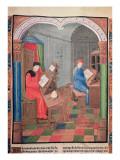 Einhard and Archbishop Turpin Writing the History of Charlemagne Giclee Print