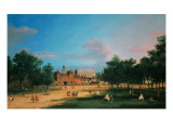 Old Horse Guards and the Banqueting Hall, Whitehall from St James's Park, 1749 Giclee Print by  Canaletto