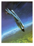 Mystere Iv Fighter Being Piloted by Jacqueline Auriol Giclee Print by Graham Coton