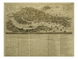 Map of Venice, Published by H. Chatelain in Amsterdam, 1728 Giclee Print by French School