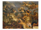 View of the King Taking Maastricht in Thirteen Days in 1673 and the Passage on the Rhine Giclee Print by Charles Le Brun