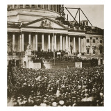 Inauguration of President Lincoln, 4th March 1861 Reproduction procédé giclée par Mathew Brady