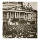 Inauguration of President Lincoln, 4th March 1861 Giclee-trykk av Mathew Brady