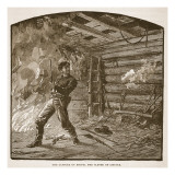 The Capture of Booth, the Slayer of Lincoln, from a Book Pub. 1896 Reproduction proc&#233;d&#233; gicl&#233;e par Alfred Rudolf Waud