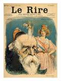 Caricature of Henri Brisson, from the Front Cover of 'Le Rire', 5th November 1898 Giclee Print by Charles Leandre