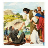 The Miracles of Jesus: Making the Lame Man Walk Giclee Print by Clive Uptton