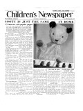 Sooty, Front Page of 'The Children's Newspaper', March 1955 Giclee Print by  English School