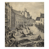 Strike and Shootings in the Town of Fourmies, from 'Le Petit Parisien', 17th May 1891 Giclee Print by Beltrand and Clair-Guyot, E. Dete