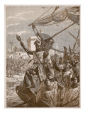 Richard Landing at Jaffa, Illustration from 'Cassell's Illustrated History of England' Giclee Print by  English School
