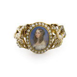 Bracelet Containing a Miniature of Victoiria, Duchess of Nemours Giclee Print by  French School