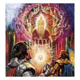 Sir Percival and Sir Bors Witnessing the Vanishing of the Holy Grail Giclee Print by  Payne