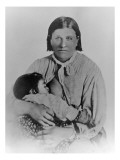 Cynthia Ann Parker with Her Daughter Prarie Flower, c.1861, Giclee Print