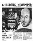 Shakespeare: the Greatest of Them All, Front Page of 'The Children's Newspaper', April 1964 Giclee Print by  English School
