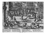 Execution of Francois Ravaillac, the Assassin of King Henri Iv, 1610 Giclee Print by  German School