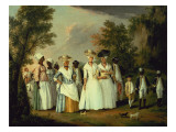 Three Ladies with Two Children and Eight Negro Servants Giclee Print by Agostino Brunias