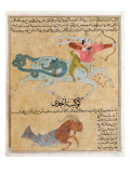 Ms E-7 Fol.29B the Constellations of Sagittarius and Capricorn Giclee Print by  Islamic School