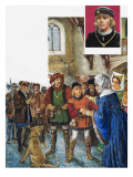 Elizabeth Woodville Was Finally Persuaded to Give Up Her Younger Son, Richard Giclee Print by Clive Uptton