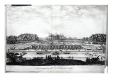 Perspective View of the Garden Facade of the Chateau of Vaux-Le-Vicomte Giclee Print by Israel, The Younger Silvestre
