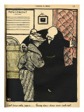 A Worthy Man Ushers a Young Woman into His Office Gicl&#233;e-Druck von F&#233;lix Vallotton