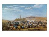 The Pardon of Sainte-Anne-La-Palud, Brittany, 1858 Giclee Print by Eugène Boudin