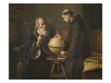 Galileo Galilei Demonstrating His New Astronomical Theories at the University of Padua Premium Giclee Print by Felix Parra