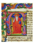 St. Jerome, from a Mariegola of the Lay Guild of St. Jeroma, C.1400 Giclée-tryk af  Italian School