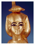 Detail of the Goddess Selket from the Canopic Shrine, from the Tomb of Tutankhamun Reproduction procédé giclée par Egyptian 18th Dynasty