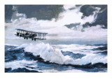 Vickers Vimy Making its Record-Breaking Transatlantic Flight Giclee Print by Graham Coton