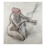 Nude Woman Drying Herself after the Bath, C.1898 Giclee Print by Edgar Degas
