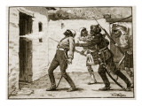 Death of Hodson, Illustration from &#39;Cassell&#39;s Illustrated History of England&#39; Giclee Print by William Barnes Wollen
